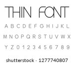 vector set of thin font... | Shutterstock .eps vector #1277740807