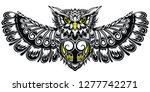 owl illustration in tribal... | Shutterstock .eps vector #1277742271