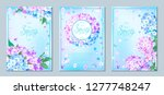 set of three luxury floral... | Shutterstock .eps vector #1277748247