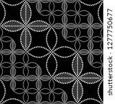 seamless black and white... | Shutterstock .eps vector #1277750677