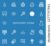 editable 22 discovery icons for ...   Shutterstock .eps vector #1277757961