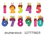 Candles  Colorful Numeral...