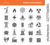 energy icons grey vector... | Shutterstock .eps vector #1277766301