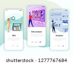 set of onboarding screens user... | Shutterstock .eps vector #1277767684