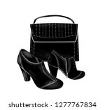 black high heeled ankle boots... | Shutterstock .eps vector #1277767834