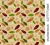 decorative pattern of cacao... | Shutterstock .eps vector #1277771464