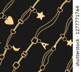 golden chains and charms... | Shutterstock .eps vector #1277771764