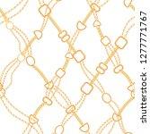 golden chains fashion seamless... | Shutterstock .eps vector #1277771767