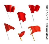 red flags  vector icon set | Shutterstock .eps vector #127777181