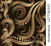 ornate gold vintage 3d vector...   Shutterstock .eps vector #1277782537