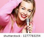 happy singing girl. beauty... | Shutterstock . vector #1277783254