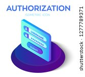 authorization login with... | Shutterstock .eps vector #1277789371