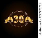 30 years anniversary... | Shutterstock .eps vector #1277790211
