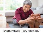 closeup of senior woman... | Shutterstock . vector #1277806507