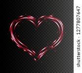 heart shape frame. vector light ... | Shutterstock .eps vector #1277807647