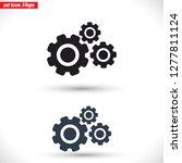 settings icon  vector 10 eps... | Shutterstock .eps vector #1277811124