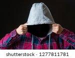 Faceless Incognito Man Wear...
