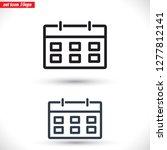 calendar 1 icon  vector 10 eps... | Shutterstock .eps vector #1277812141