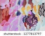 bright multi colored painting ... | Shutterstock . vector #1277813797