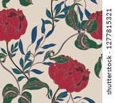 beautiful seamless floral... | Shutterstock .eps vector #1277815321