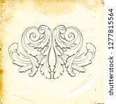retro baroque decorations... | Shutterstock .eps vector #1277815564