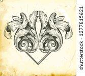 retro baroque decorations... | Shutterstock .eps vector #1277815621