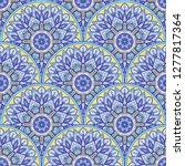 seamless oriental ornamental...   Shutterstock .eps vector #1277817364