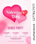 valentine's day dance party... | Shutterstock .eps vector #1277817577