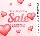 valentine's day sale template... | Shutterstock .eps vector #1277817607