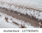 frost and ice crystal covered... | Shutterstock . vector #1277820691