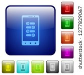 mobile fine tune icons in... | Shutterstock .eps vector #1277829067