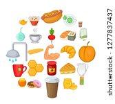 mead icons set. cartoon set of...   Shutterstock . vector #1277837437