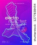 sound flyer. futuristic show... | Shutterstock .eps vector #1277838454