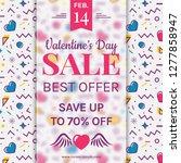 valentine's day sale banner...   Shutterstock .eps vector #1277858947