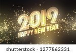 new year background. gold... | Shutterstock .eps vector #1277862331