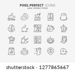 thin line icons set of coffee....   Shutterstock .eps vector #1277865667