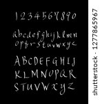 vector fonts   handwritten... | Shutterstock .eps vector #1277865967