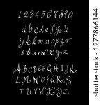 vector fonts   handwritten... | Shutterstock .eps vector #1277866144
