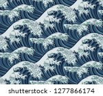 A Japanese Great Wave Pattern...