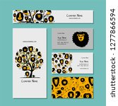 business cards design  funny... | Shutterstock .eps vector #1277866594