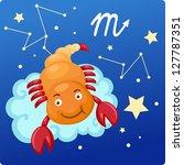 zodiac signs   scorpio... | Shutterstock . vector #127787351
