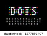 dots style font design ... | Shutterstock .eps vector #1277891407
