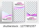 templates for vertical vector... | Shutterstock .eps vector #1277891557