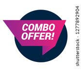 combo offer sign  emblem  label ...