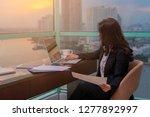 portrait of businesswoman... | Shutterstock . vector #1277892997