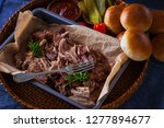 homemade pulled pork with... | Shutterstock . vector #1277894677