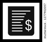 vector receipt icon    Shutterstock .eps vector #1277902057