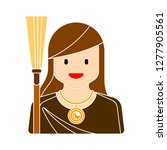 witch face icon   witch... | Shutterstock .eps vector #1277905561