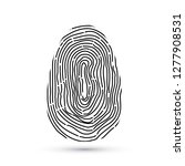 fingerprint vector icon... | Shutterstock .eps vector #1277908531