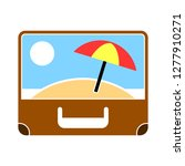 summer suitcase icon   summer... | Shutterstock .eps vector #1277910271